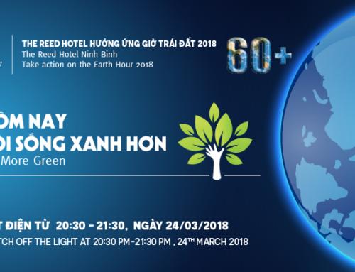 Cùng Khách sạn The Reed Ninh Binh hưởng ứng Giờ trái đất 2018
